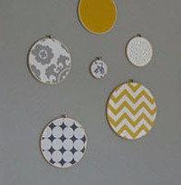 Cadres textiles ronds et carré