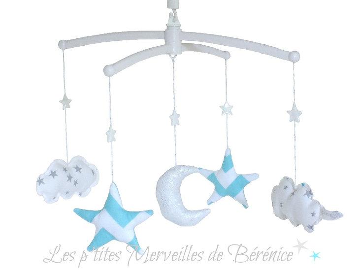 "Mon Joli mobile musical ""Etoiles, nuages et lune"""
