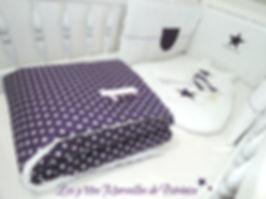 """Ensemble final """"étoiles"""" blanc et violet"""