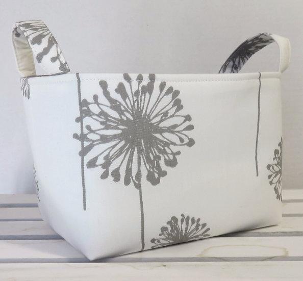 Corbeille de rangement Dandelion blanche et grise