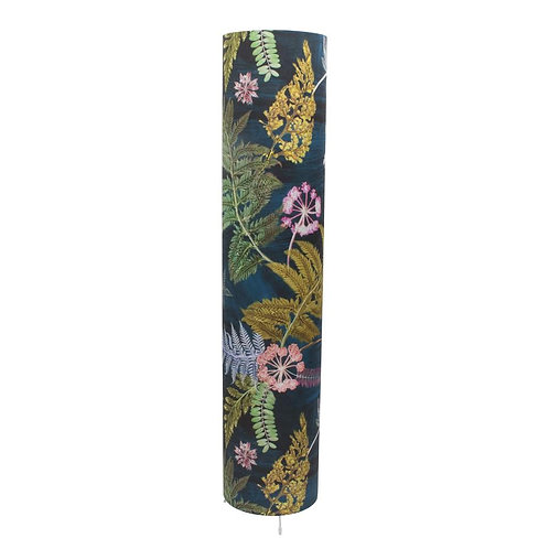 Floorlamp in Bright Teal Floral Design