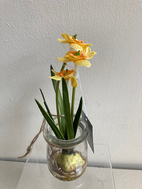 Daffodils in Glass Jar Decoration