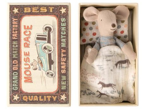 Maileg Little Brother  Mouse in Box with Clothes