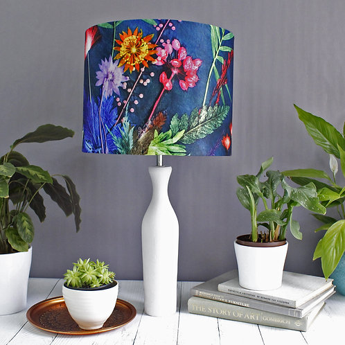 Lampshade in Navy Floral Design - 30cm