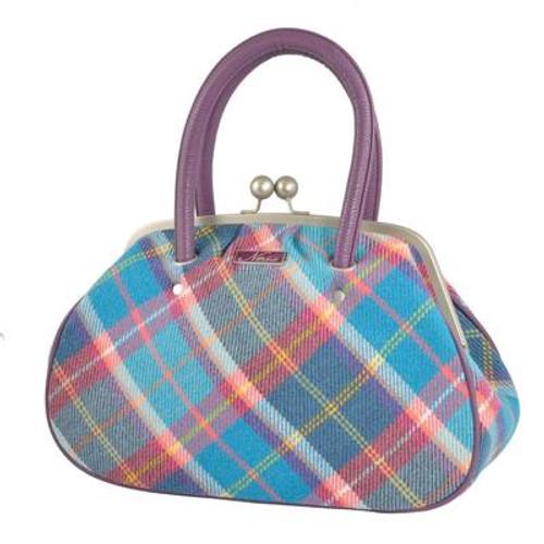 Ness Harriet Bag Fresh Bluebell Check