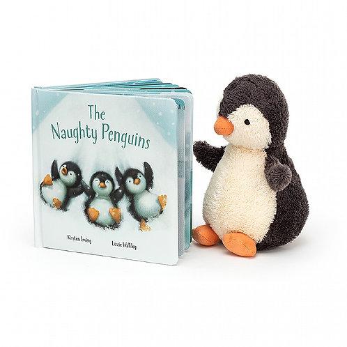 Jellycat Peanut Penguin & Naught Penguin Book