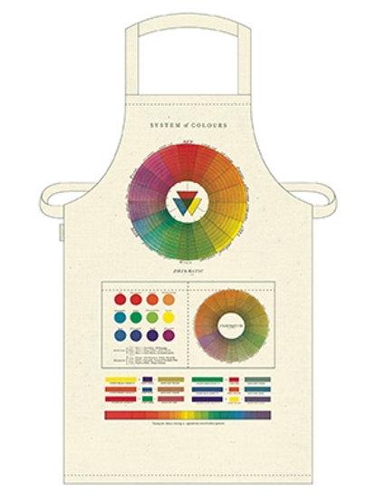 Cavallini Apron in Colour Wheel Design
