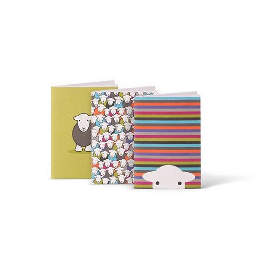 Herdy Set of 3 A6 Notebooks