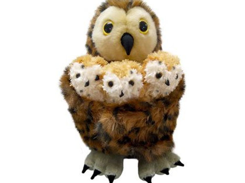 Mummy Owl and 3 Owlets Puppet Set