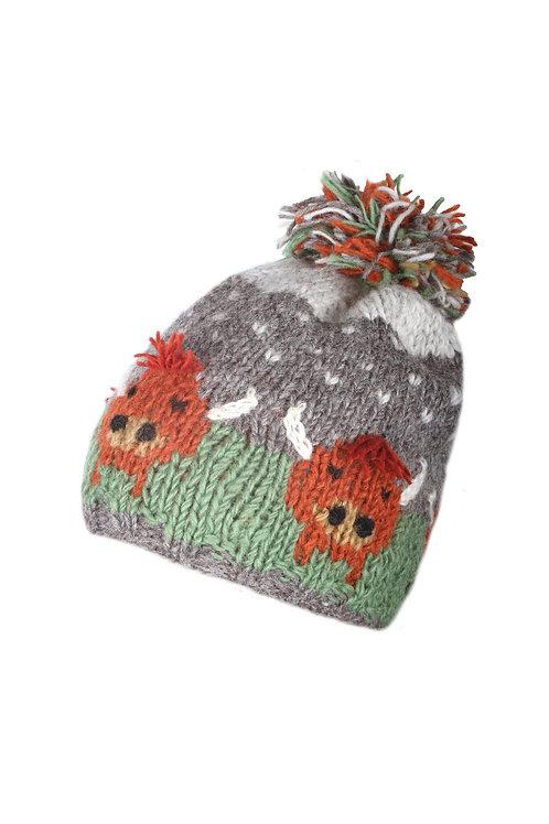 Highland Cow Bobble Hat