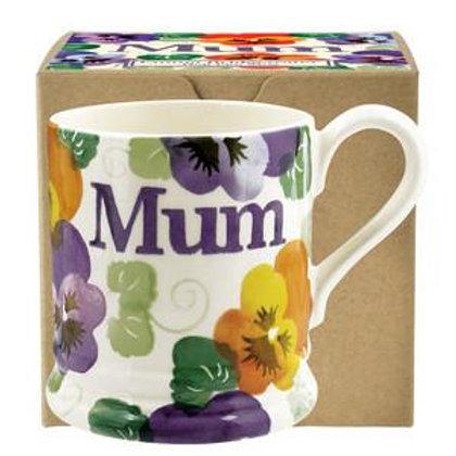 Emma Bridgewater Purple Pansy Mum Mug