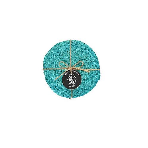 Jute Coasters in Medici Blue