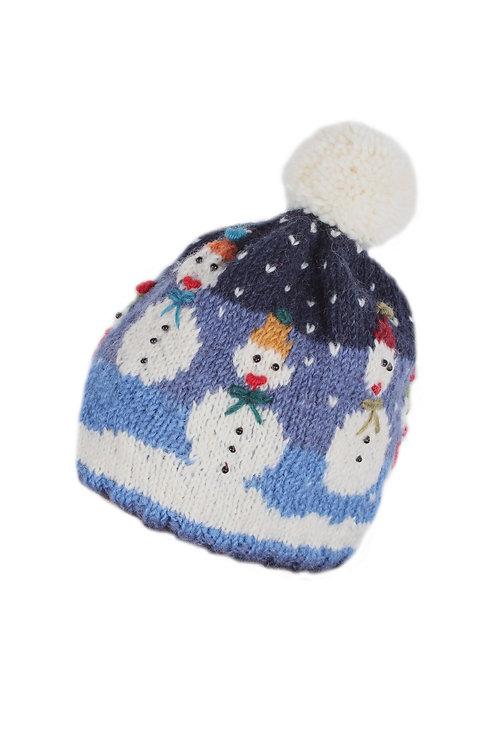Snowman Christmas Bobble Hat