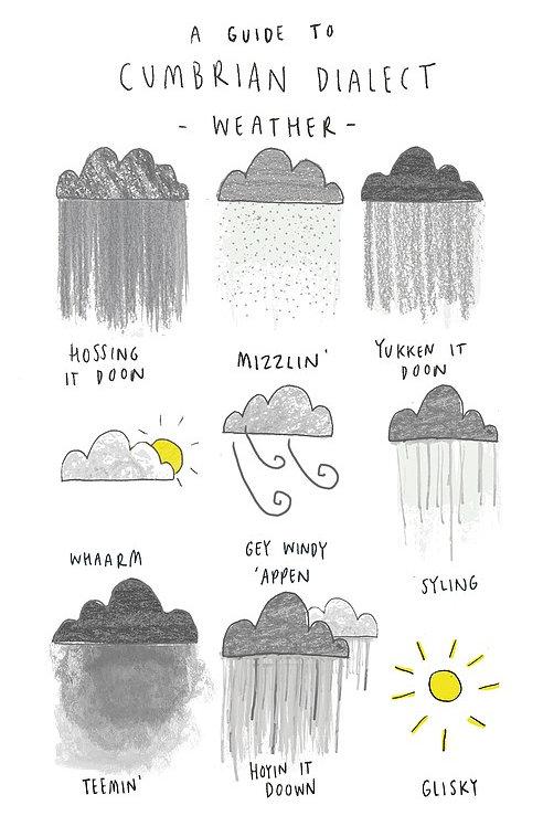 Cumbrian Weather Tea Towel