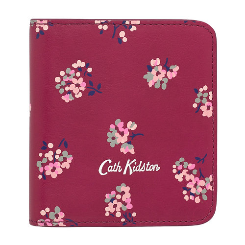 Cath Kidston Leather Poppered Purse in Woodstock Ditsy