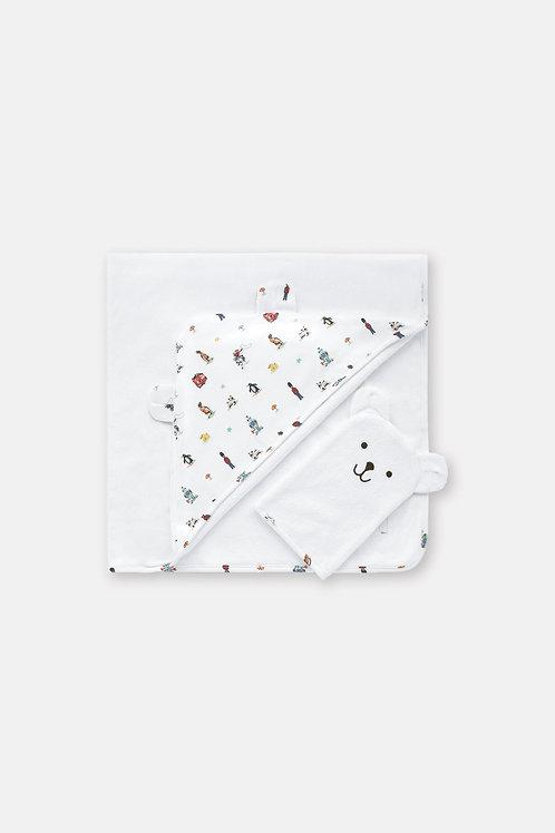 Cath Kidston Hooded Baby Towel & Mitt