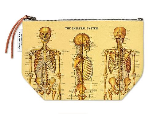 Cavallini Pouch in Skeleton Design - Large