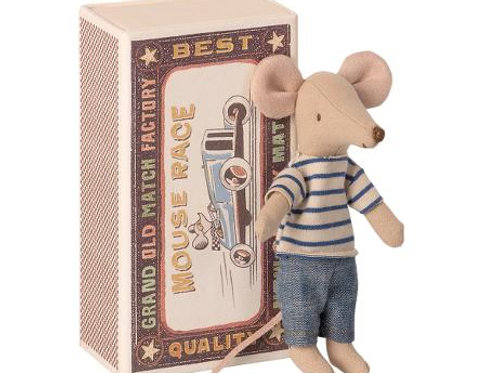 Maileg Big Brother Mouse in Box in Clothes
