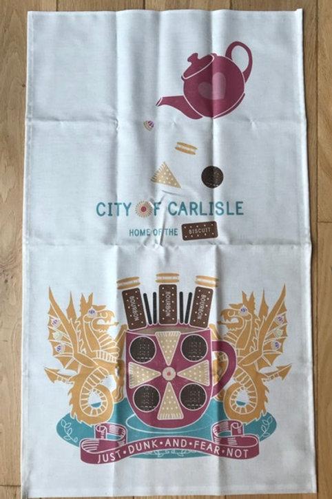 Carlisle 'Just dunk and fear not' Tea Towel