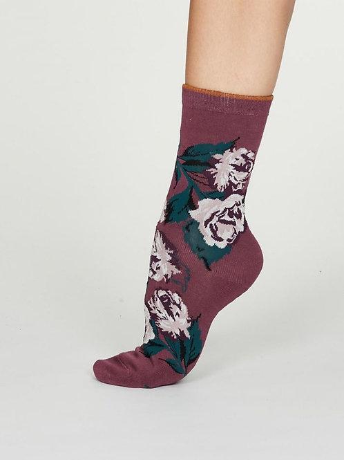 Thought Ladies Bamboo Rose Socks