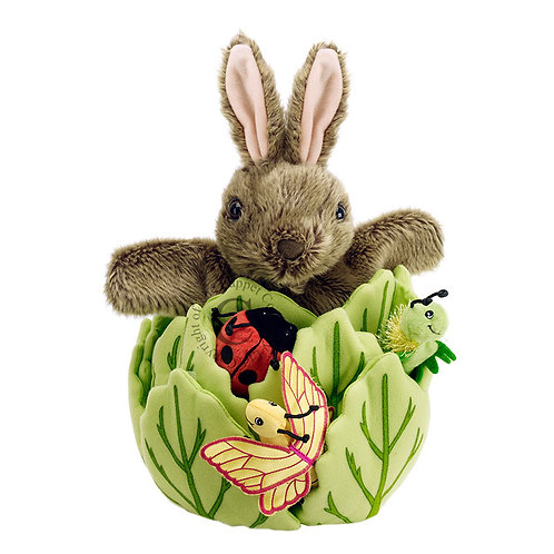 Rabbit in a Lettuce Puppet Set
