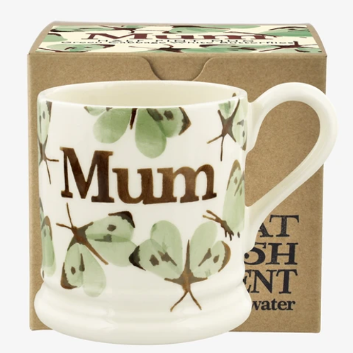 Emma Bridgewater Green Cabbage White Butterfly Mum Mug