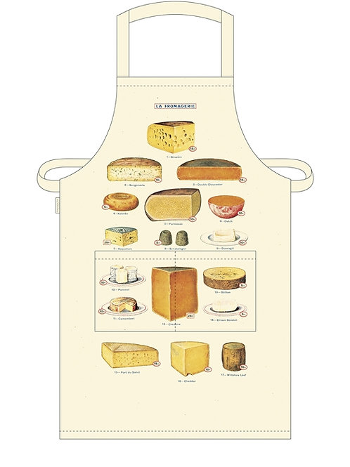 Cavallini Apron in Cheese Design