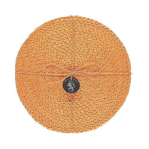 Jute Placemats in Spanish Orange