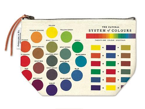 Cavallini Pouch in Colour Wheel Design - Large