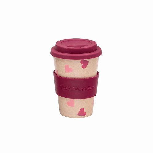 Emma Bridgewater Rice Husk Travel Cup Pink Hearts