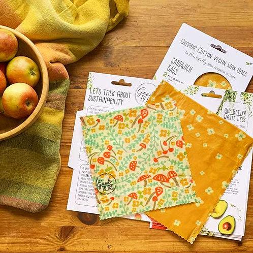Wax Sandwich Bags - Set of 2
