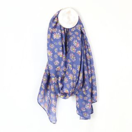 Lilac Daisy Print Scarf - Made from Plastic Bottles