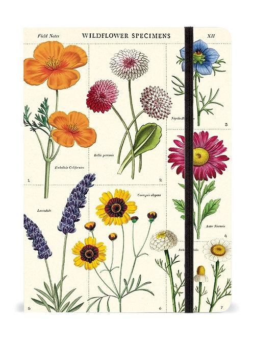 Cavallini Notebook Wildflowers Design - Large