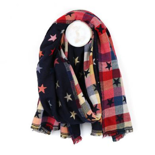 Reversible Star Print Scarf