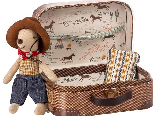 Maileg Cowboy Mouse - Little Brother in Suitcase