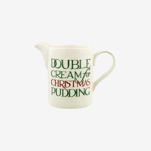 Emma Bridgewater Christmas Toast Double Cream Small Straight Jug