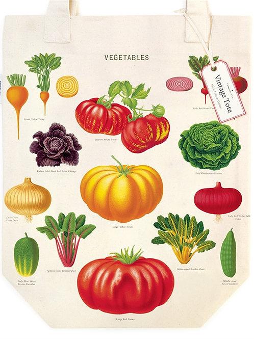 Cavallini Tote Bag in Vegetable Garden Design