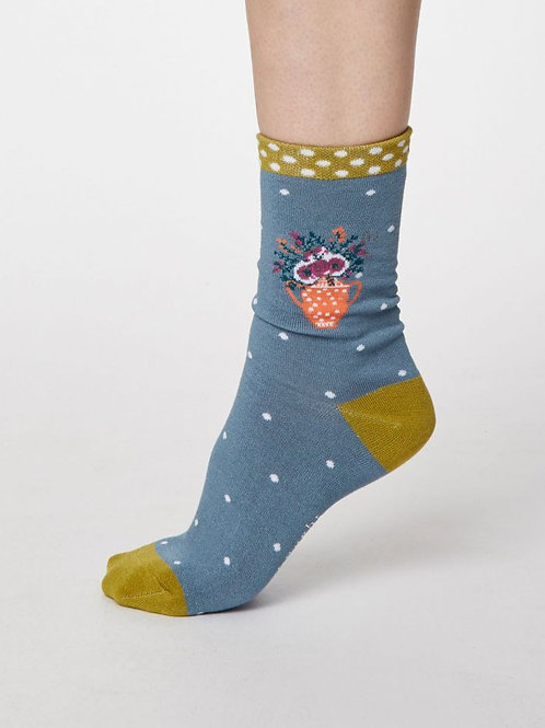 Thought Ladies Bamboo Flower Socks