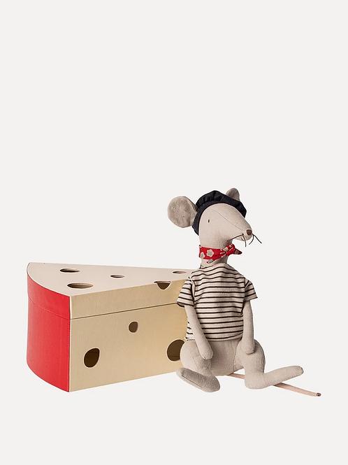 Maileg Rat in Cheese Box - Light