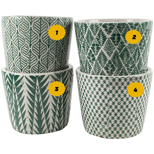 Old Style Dutch Plant Pots in Teal - Large