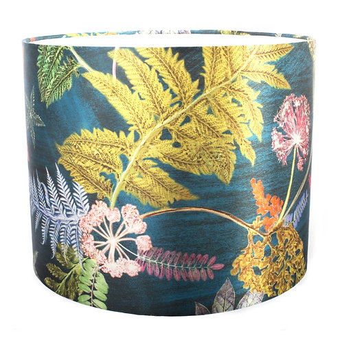 Lampshade in Bright Teal Floral Design - 20cm