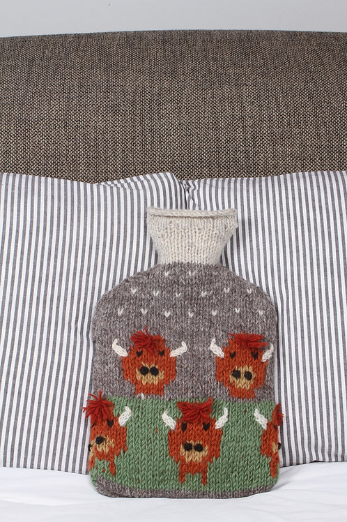 Highland Cow Hot Water Bottle