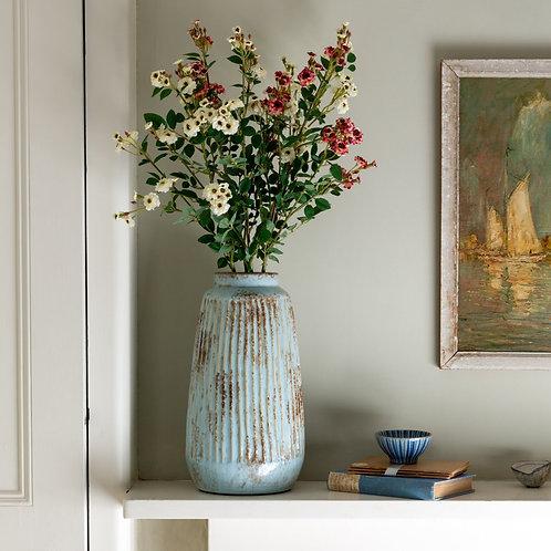 Tall Ribbed Vase