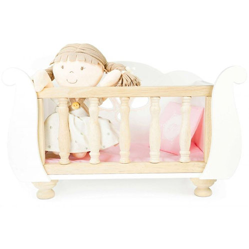 Le Toy Van Sleigh Doll's Cot