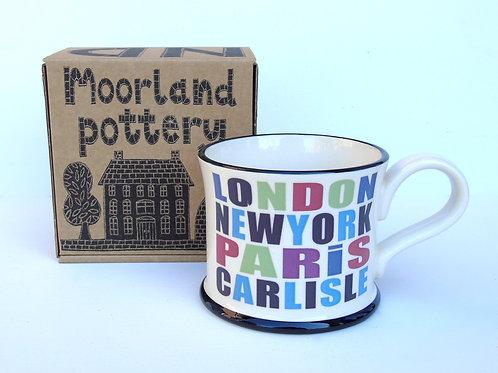 London New York Paris Carlisle Mug