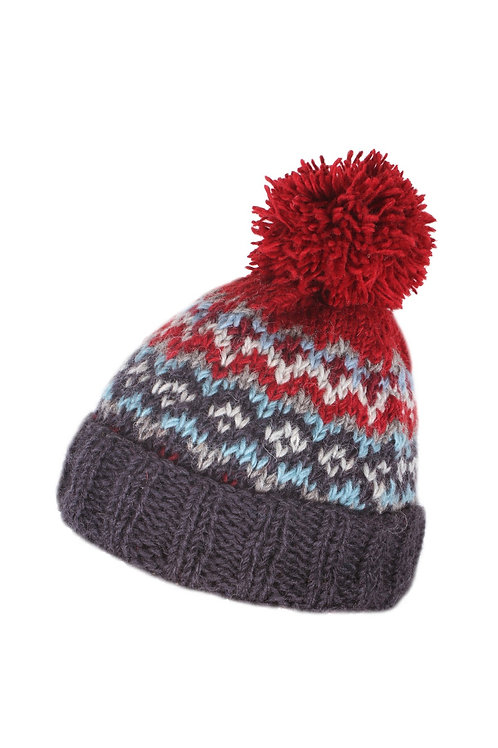Men's Fair Isle Bobble Hat