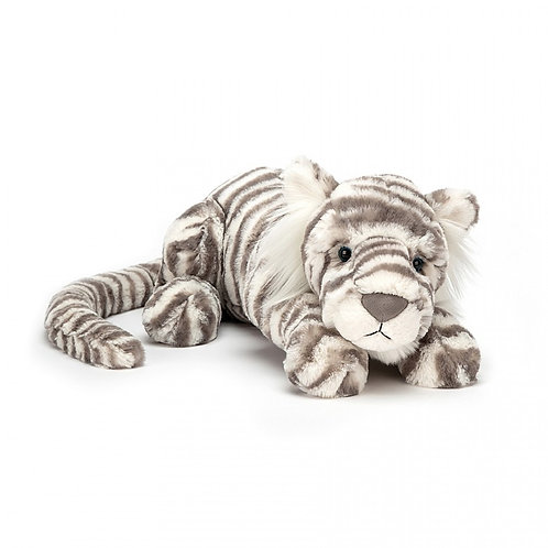 Jellycat Sasha Snow Tiger Small