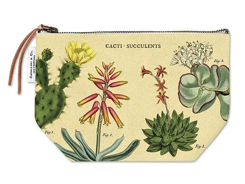 Cavallini Pouch in Cacti & Succulents Design - Large