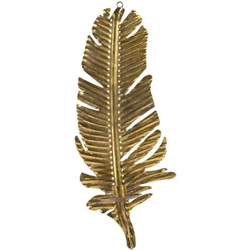 Golden Feather Wall Sconce