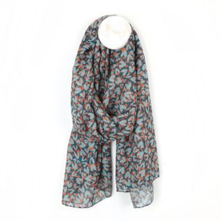 Heart Print Scarf - Made from Plastic Bottles